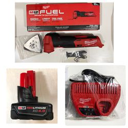 Milwaukee FUEL M12 Multi Tool Sander Cut Out, XC4.0 BATTERY & Charger for Sale in Vancouver,  WA