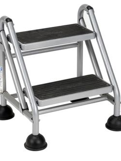 """Hively Rolling 2 Step Steel Step Stool with 300 lb. Load Capacity. Slip resistant steps. Lightweight: 1.88' H x 2.4' W x 6"""" D. MSRP $176. Our price $6 for Sale in Woodstock,  GA"""