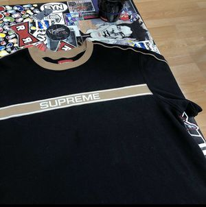 Supreme long sleeve logo striped size large for Sale in Oakland, CA