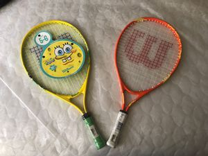Two New Youth Wilson tennis rackets (ages 5 -6). Must be purchased together. for Sale in Phoenix, AZ
