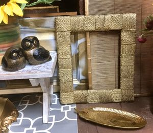 Gold Natural Woven Frame! for Sale in Winston-Salem, NC