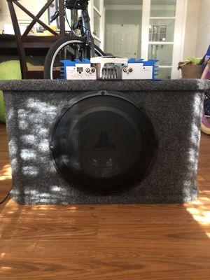 "JL Audio 12"" subwoofer and Jensen 300 amp for Sale in Orlando, FL"