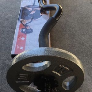 Weights Curl bar with a set of 10lb plates for Sale in Covina, CA