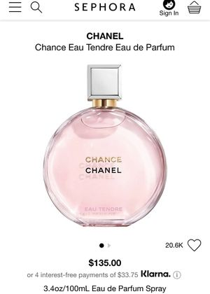 Chanel Chance Tendre Euu De Parfum for Sale in San Antonio, TX