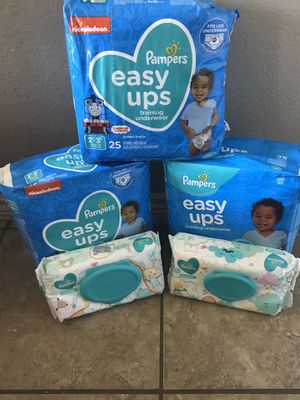 Pampers easy ups and wipes for Sale in Arlington, TX