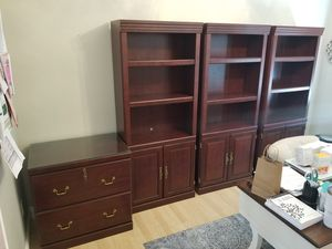 Sauder File Cabinet and Bookshelves for Sale in Chino Hills, CA