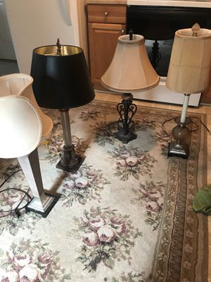 Set of 4 Lamps! (Willing to separate) for Sale in Chesapeake, VA