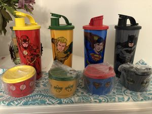 Tupperware justice league tumbler sets for Sale in Manassas, VA