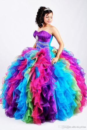 Rainbow Quinceanera Dress for Sale in Naperville, IL