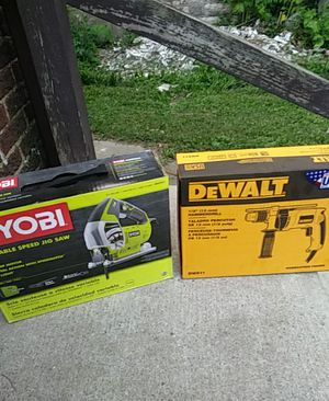 Electric jig saw and hammer drill 80 bucks grate deal come get them for Sale in Columbus, OH