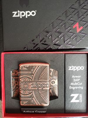 Zippo Armor Carved Brass Lighter for Sale in Norco, CA