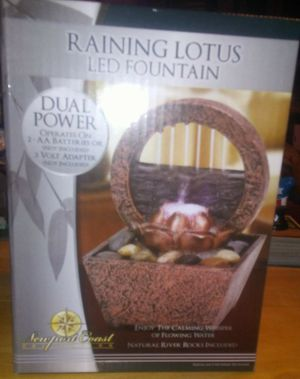 RAINING LOTUS LED FOUNTAIN BRAND NEW for Sale in New Ringgold, PA