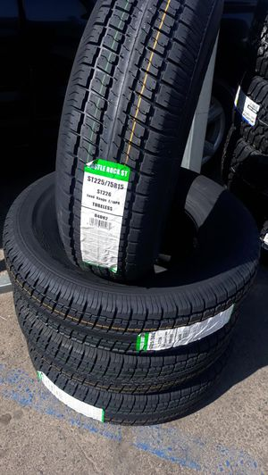 St225 75 r15 trailer tires 4 new $220 for Sale in Escondido, CA
