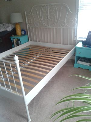 Ikea queen bed frame for Sale in Haverhill, MA