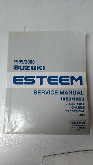Suzuki Esteem Service Manuals for Sale in Cosmopolis, WA