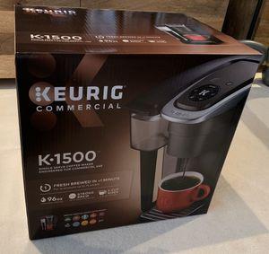 Keurig K-1500 coffee maker w/96 Green Mountain Breakfast Blend K-cups for Sale in Burlingame, CA