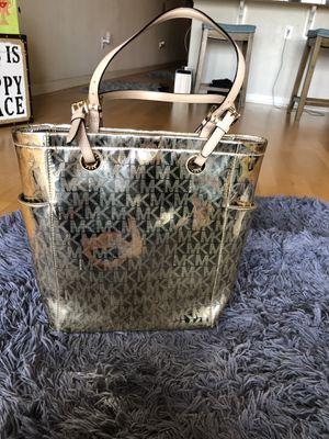 Michael Kors Gold mirror metallic tote bag for Sale in Denver, CO