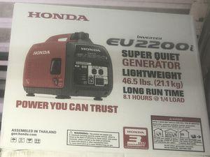 Honda EU2200i Gas Powered Inverter Generator for Sale in Hialeah, FL