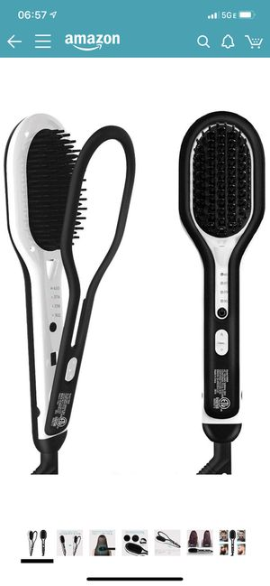 Hair Straightener Brush, Abody Beard Straightener with Anti-Scald Feature, 4 Heat Levels, Fast Ceramic Heating, Auto-Off & Dual Voltage, 360 Swivel C for Sale in Los Angeles, CA
