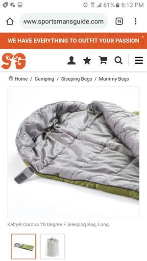 Kelty Corona 20F sleeping bag for Sale in Castro Valley, CA