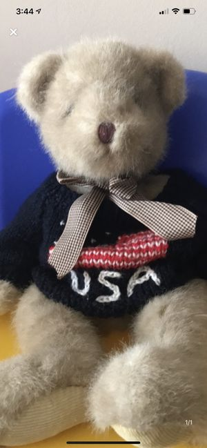 USA teddy bear,16 inches tall for Sale in Camden Wyoming, DE
