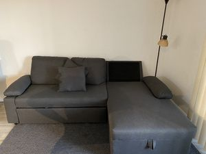 Grey L-Shape Couch with Trunk Space for Sale in Pompano Beach, FL