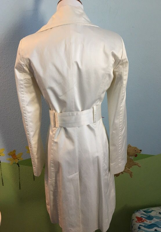 Bebe white trench jacket