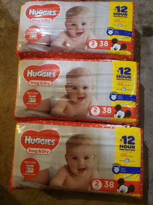 Huggies size 2 for Sale in Pittsburgh, PA