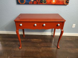 Antique furniture/ painted red. Drawers are pegged, no screws. Ready to stress if needed for Sale in Dripping Springs, TX