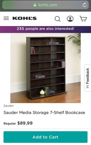 7 shelf book shelf/storage shelf for Sale in Reynoldsburg, OH