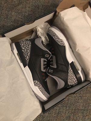 Black cement retro Jordan 3 for Sale in Oakland, CA