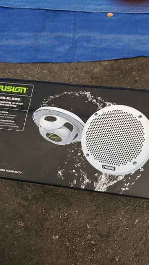 "Fusion Ms-EL602 6"" Marine 2-Speakers for Sale in San Mateo, CA"