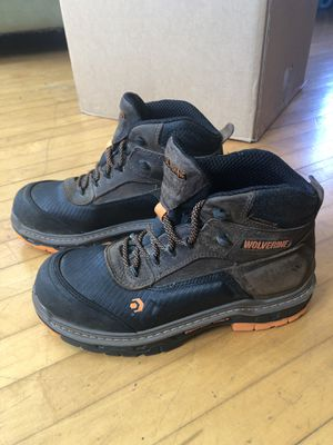 Men's 9m Wolverine composite toe work boots for Sale in Milwaukee, WI