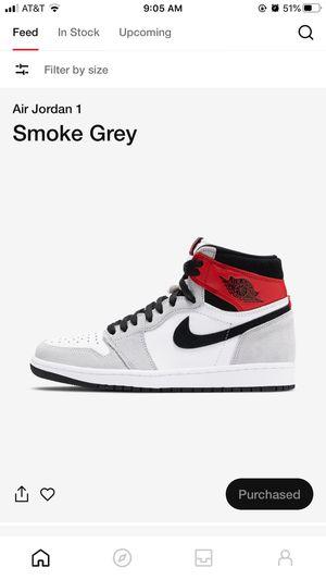 Air Jordan smoke gray 1 size 10m for Sale in Houston, TX