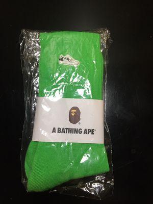 Bape bapesta one point socks green for Sale in Oakland, CA