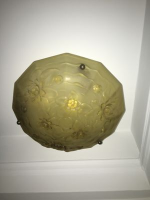 Antique hand blown glass light fixture for Sale in New York, NY