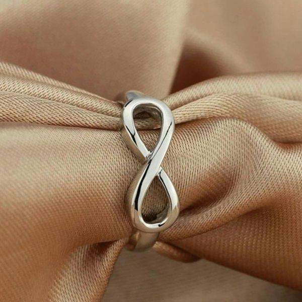 Womens 925 Sterling Silver Wedding Ring