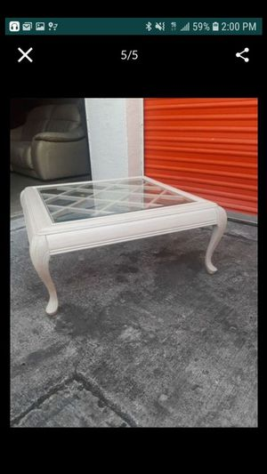 Two glass end tables for Sale in Fort Lauderdale, FL