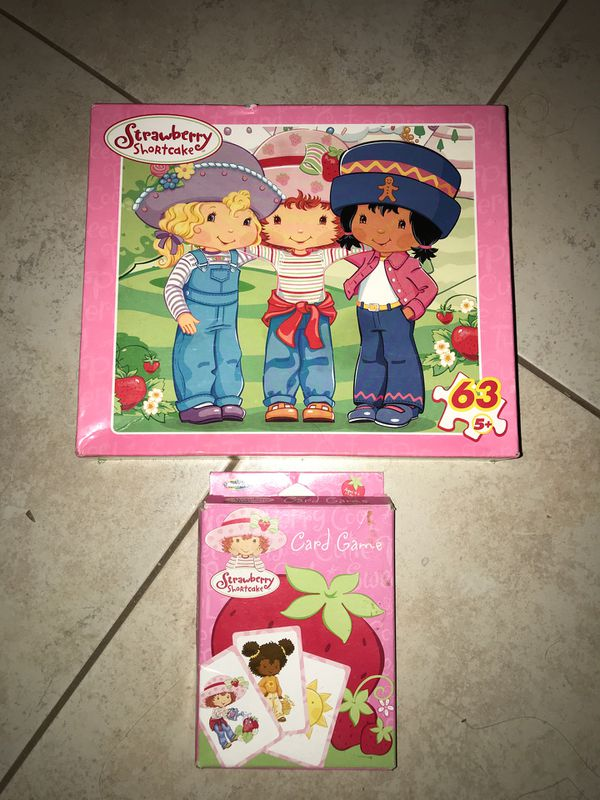 Puzzle & Card Game - Strawberry Shortcake