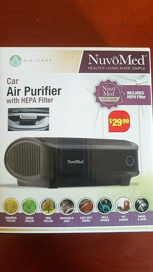 New nuvomed car air purifier with HEPA filter new in box for Sale in Las Vegas, NV