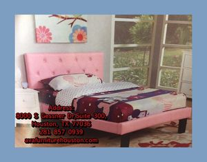 pink twin bed frame with mattress for Sale in Houston, TX