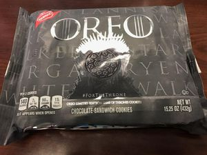 *NEW* Game of Thrones Oreo Cookies - Limited Edition - Nabisco 15 oz. cookies for Sale for sale  Edison, NJ