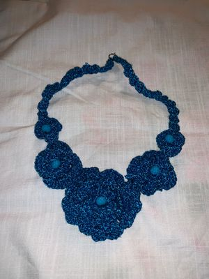 Handmade crochet necklace (blue) for Sale in Fremont, CA