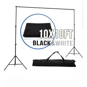 Photography 10x10ft Muslin Backdrop Background Photo Stand Kit for Sale in Covina, CA