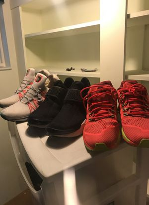 Three pairs of Nike shoes great condition all size 13 for Sale in Grosse Pointe, MI