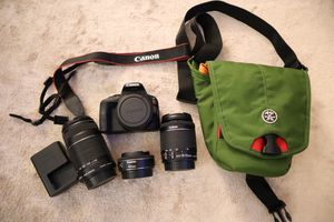 MINT Condition CANON SL1 DSLR Camera with 3 lenses and Camera Bag. Perfect Condition! for Sale in New York, NY