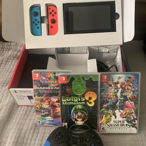 Nintendo switch Plus Three Games for Sale in Delray Beach, FL