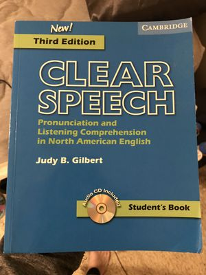 Clear Speech Cambridge 3rd edition for Sale in Federal Way, WA