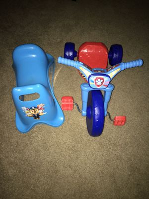 Paw patrol scoot along & tricycle for Sale in Dunedin, FL