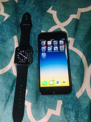iPhone 6 & Stainless Steel Apple Watch for Sale in South Salt Lake, UT